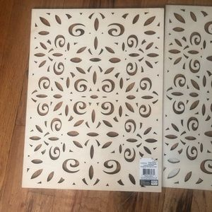 Anthropologie Accents - Anthropologie style wood placemats tree vase decor
